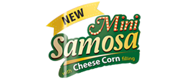 New Mini Samosa with Cheese Corn Filling Logo