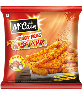 New McCain Crazy Fries with Hot N Tangy Masala Mix