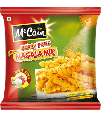 New McCain Crazy Fries with Herb N Garlic Masala Mix