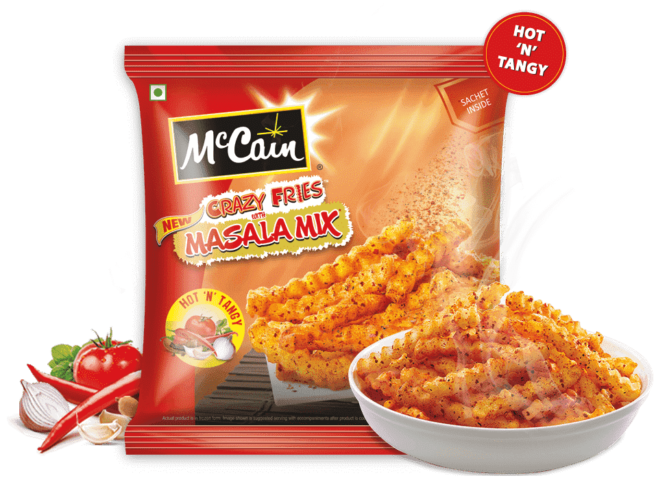 McCain New Crazy Fries with Masala Mix (Hot 'N' Tangy)