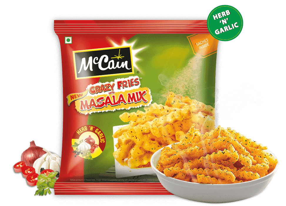McCain New Crazy Fries with Masala Mix (Herb 'N' Garlic)
