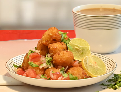 McCain Chilli Garlic Potato Bites Chaat