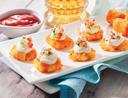 PCS Canape with McCain Potato Cheese Shotz